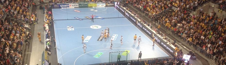 Handballspiel Rhein-Neckar Löwen - THW Kiel
