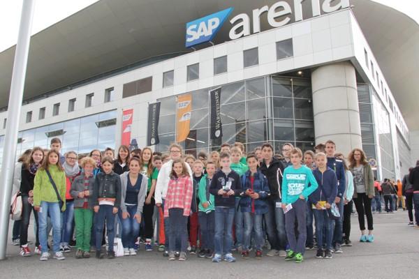 Ausflug SAP-Arena Handball
