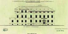 Planskizze des Erweiterungsbaus (Ostansicht) 1954