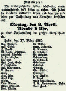 Aufruf 1865